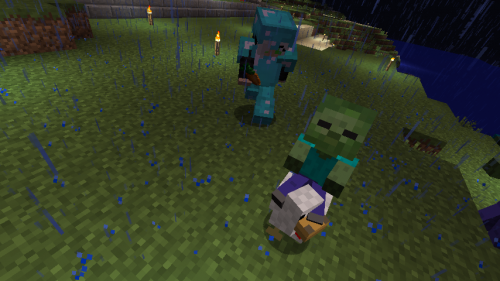 Baby Zombie Riding a Chicken at SeineRoe's Base