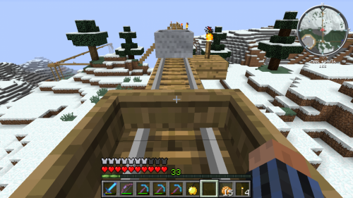 Stranded Boat on Tower of Mystery North Rail